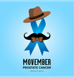 Movember prostate cancer month awareness vector