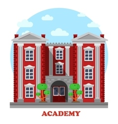 National military or science academy facade vector