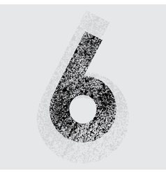 Number 6 vector image