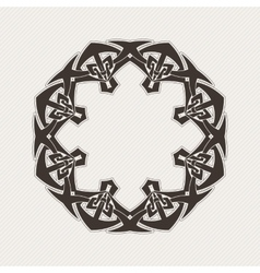 ornate border Gothic lace tattoo Celtic vector image