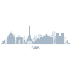 paris city skyline - cityscape silhouette vector image