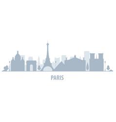 Paris city skyline - cityscape silhouette with vector