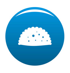 Pattie icon blue vector