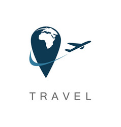 point travel logo vector image