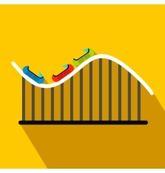 Roller coaster flat icon vector image