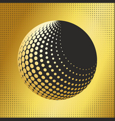 Set abstract halftone 3d spheres 32 vector