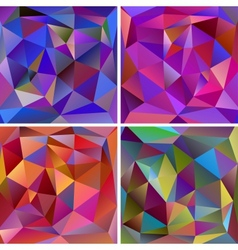 Set abstract triangle backgrounds vector