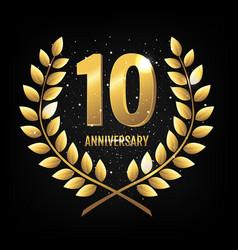 Template logo ten years anniversary vector