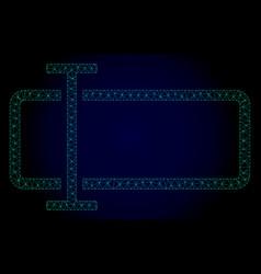 Text field polygonal frame mesh vector