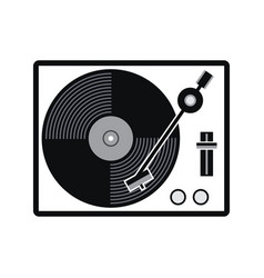 turntable vinyl record player icon vector image