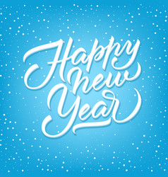 unique lettering happy new year vector image