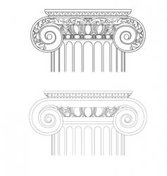 vintage architecture vector image