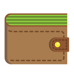 Wallet flat icon business and finance purse sign vector