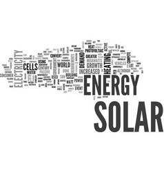 What is solar energy text word cloud concept vector