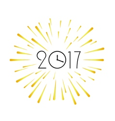 2017 new year design template greeting background vector