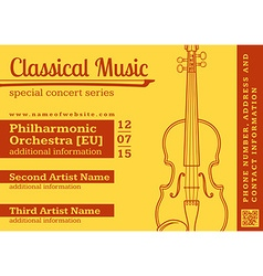classical music concert violin horizontal music vector image vector image