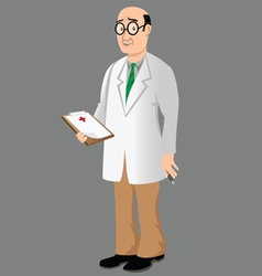doctor with bad news vector image vector image