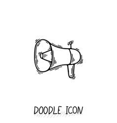 doodle icon with megaphone Speaker vector image