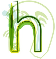 Green letter H vector image