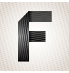 Letter metal ribbon - F vector image vector image