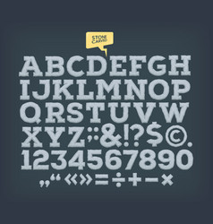 stone made abc vintage alphabet vector image
