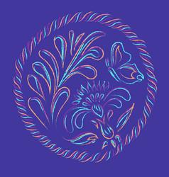 floral decorative vector image