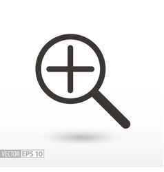 magnifier flat icon sign magnifying glass vector image vector image