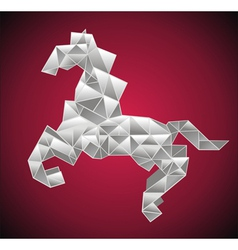 Origami horse vector image vector image