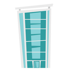 business skyscraper cartoon vector image vector image
