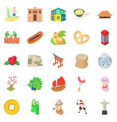 england icons set cartoon style vector image