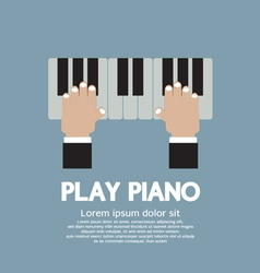 Hand Playing Piano vector image vector image