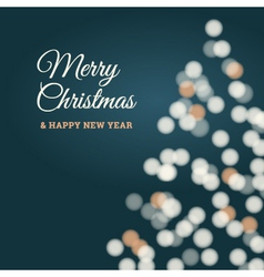 merry christmas tree card blue vector image