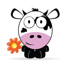 sweet and cute cow vector image
