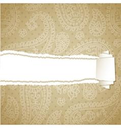 Beige torn pattern vector image