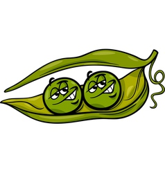 like two peas in a pod cartoon vector image vector image