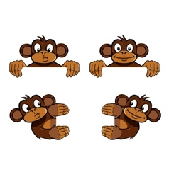 monkey frame decoration vector image vector image