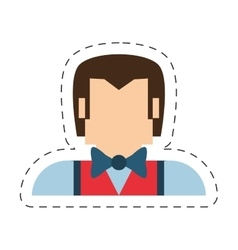 People man nerd icon image vector
