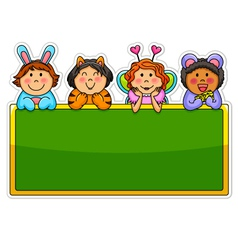 playful kids vector image vector image