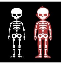 Skeletons Human Bones Set Cartoon Style vector image vector image