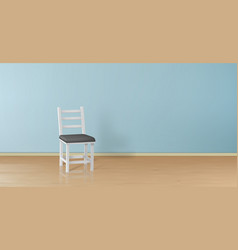 3d realistic mock-up with chair background vector