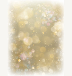 Abstract christmas gold background with white vector