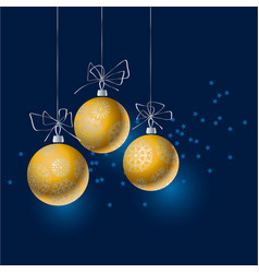Abstract gold christmas tree baubles header vector