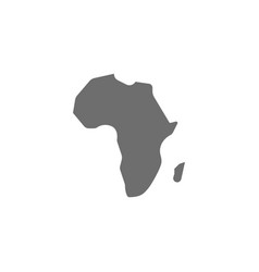 African continent africa grey icon isolated vector