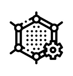 artificial graphene technology sign icon vector image