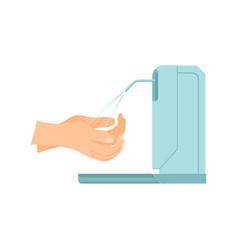 Automatic disinfectant dispenser composition vector