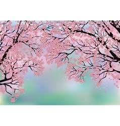 Background with blossoming trees vector image