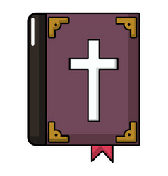 Bible icon cartoon style vector