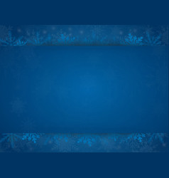 blue cover poster card or banner snowflakes vector image