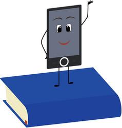 Books end ebooks concept vector