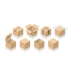 Carton packs collection vector